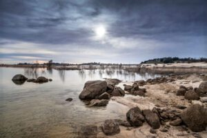 Cloudy Afternoon at Folsom Lake - Tina Campbell