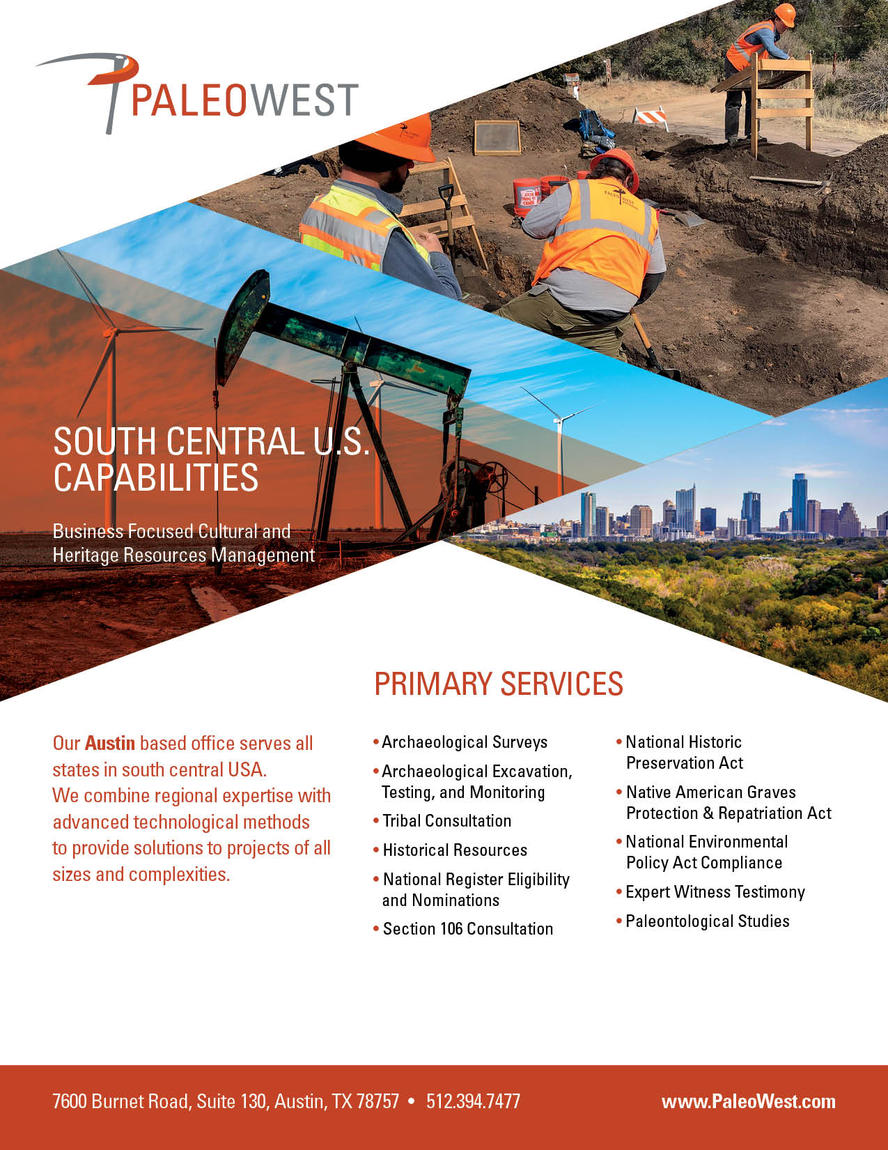 South Central Area Cut Sheet